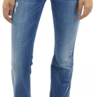 7 for all mankind | A pocket flare in red cast heritage blue