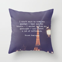 Hemingway Throw Pillow by McQueen Photography