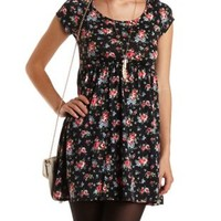 Floral Babydoll Dress by Charlotte Russe