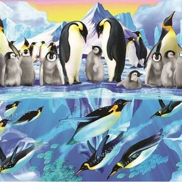 5D Diamond Painting Arctic Penguins Kit