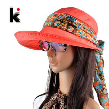 Hats for women chapeu feminino new fashion visors cap sun collapsible anti-uv hat 6 colors
