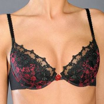 DEMI CUP PUSH UP PLUNGE BRA ROSME (RS6431)