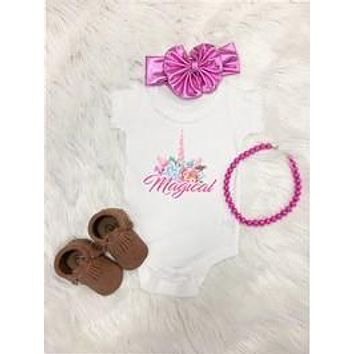 2018 Summer Infant Unicorn Onesuit