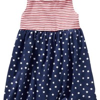 Old Navy Stars And Stripes Sleeveless Dresses For Baby