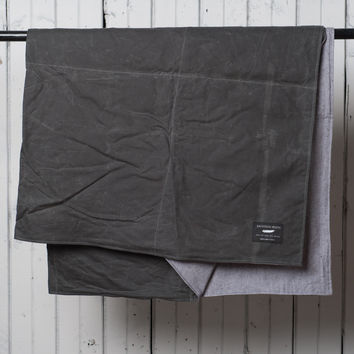 Summer Blanket | Gray Waxed Cotton / Soft Grey Twill