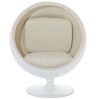 Kaddur Lounge Chair White