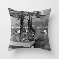 Fishmonger Throw Pillow by Upperleft Studios | Society6