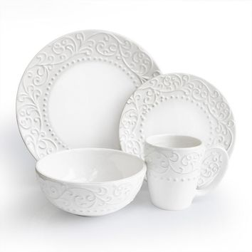 American Atelier Bianca 16-pc. Dinnerware Set (White)