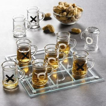 Tic Tac Toe Drinking Game Set
