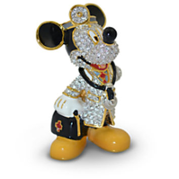 Disney Parks Mickey Mouse Doctor Jeweled Figurine by Arribas Brothers New with Box