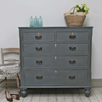 Victorian Distressed Chest Of Drawers