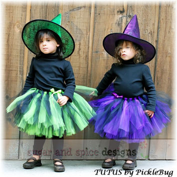 Witch Tutu - Witch Costume - Halloween Tutu - Size Newborn to 4T - Quality SEWN, not tied - Perfect for Halloween