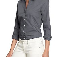 Women's Poplin-Stretch Dress Shirts | Old Navy