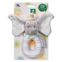 Disney Dumbo the Flying Elephant Plush Rattle for Baby New with Tags
