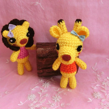 Amigurumi Giraffe Crochet Giraffe Stuffed Animal Stuffed Toy Giraffe Kids Toy Gift Ideas Kawaii Giraffe Plush Home Decor