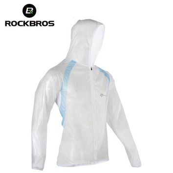 ONETOW ROCKBROS Mountain Bicycle Bike Cycling Raincoat Breathable Compressed Windshield Waterproof Raincoat Outdoor Clothes 3 Colors