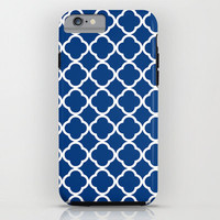 Geometric Custom iPhone 6 Case, iPhone 6 Plus Phone Case, for Her, Royal Blue, 3D iPhone Case, Protective Case