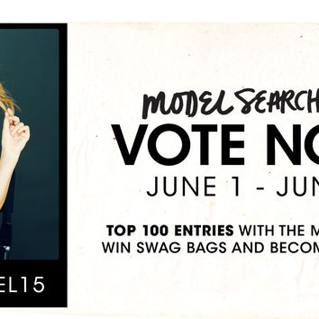 Model Search 2015 - Vote Now