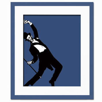 Fred Astaire Illustration - Art Print - Hollywood Stars - Actor, Dancer - Movie Poster - 8 x 10 Wall Decor