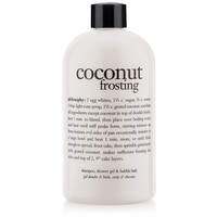 coconut frosting | shampoo, shower gel & bubble bath | philosophy