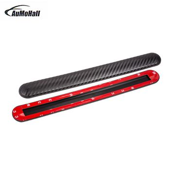 2pcs Universal Car  Styling Mouldings Carbon Fiber Look Bumper Corner Guard Protector Car Auto Truck Decoration Strip 31*3.5cm