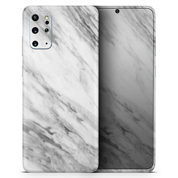 Slate Marble Surface V10 - Skin-Kit for the Samsung Galaxy S-Series S20, S20 Plus, S20 Ultra , S10 & others (All Galaxy Devices Available)