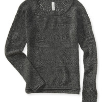 Aeropostale  Patterned Open-Knit Sweater