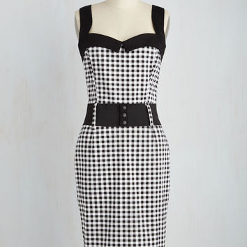 Cool Vibes Dress in Black Gingham | Mod Retro Vintage Dresses | ModCloth.com