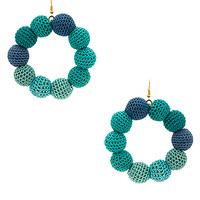 MISA Los Angeles Crochet Dots Earrings in Sea Ombre | REVOLVE
