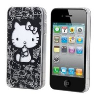 Fantastic LED Color Changing Kitty Flash Light Sense Case Cover for Apple iPhone 4 4G 4S