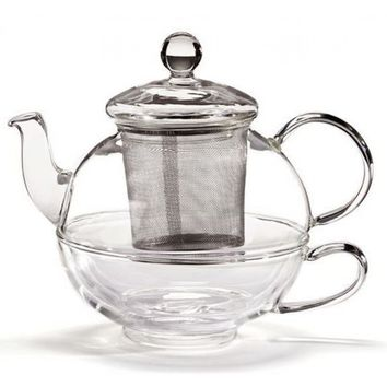 Tea-For-One Glass Infuser Teapot