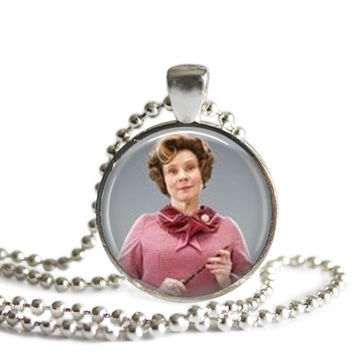 Dolores Umbridge Silver Plated Picture Pendant Harry Potter Necklace