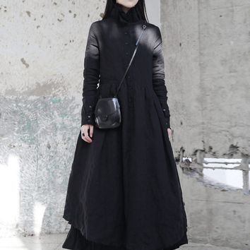 Kaede Ruffled Collar Long Sleeve Dress