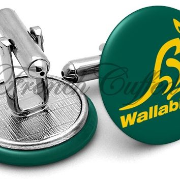 Wallabies Australia Rugby Cufflinks