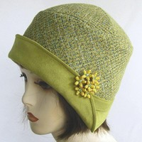 Vintage Flapper 1920s Reproduction Cloche Hat by buygail on Etsy