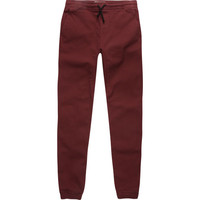 Charles And A Half Boys Twill Jogger Pants Burgundy  In Sizes