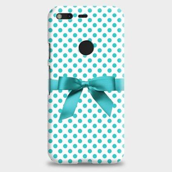 Blue Tiffany Polkadot Ribbon Google Pixel XL Case
