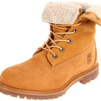 Timberland Women's Teddy Fleece Ankle Boot,Wheat,9.5 M US