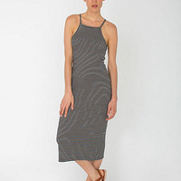 Printed Mid Length Dress | American Apparel