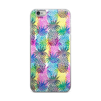 Rainbow Pineapples Collage iPhone 4 4s 5 5s 5C 6 6s 6 Plus 6s Plus 7 & 7 Plus Case