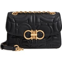 Salvatore Ferragamo Quilted Gancio Leather Shoulder Bag | Nordstrom