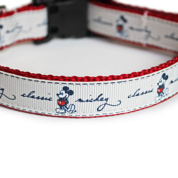 Mickey Mouse Dog Collar for Small Dogs