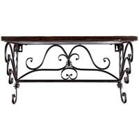 Iron & Wood Rectangle Shelf with Scroll Detail | Shop Hobby Lobby