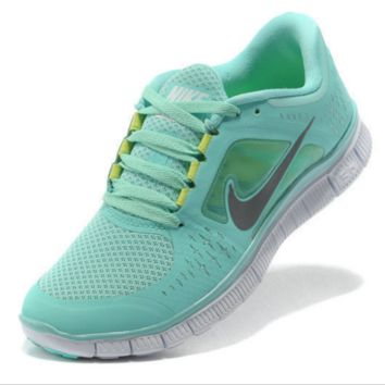 NIKE net surface wear-resistant sneakers casual shoes Mint fluorescence green
