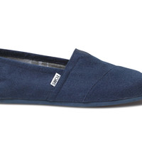 TOMS Navy Wool Men's Classics Blue