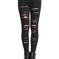 DJPremium.com - Women - Shop by Department - Denim - Ripped Skinny Jeans