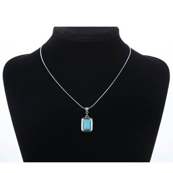 Fashion Turquoise Simple Infinity Pendant Necklace