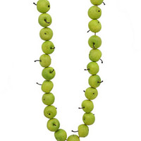 Green Apple Garland Fall Thanksgiving Christmas Tree Decorations Props