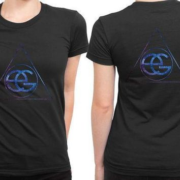 Ellie Goulding Space Classic Logo 2 Sided Womens T Shirt