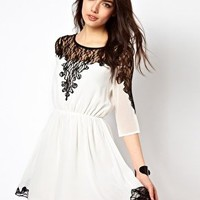 Rare Lace Insert Dress at asos.com